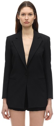 L'Autre Chose Acetate & Viscose Crepe Jacket
