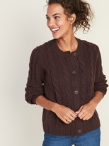 Old Navy Cable-Knit Crew-Neck Cardi for Women