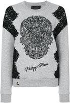 Philipp Plein skull patch jumper - women - Cotton/Polyester - S
