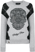 Philipp Plein skull patch jumper