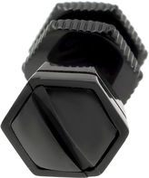 JCPenney FINE JEWELRY Mens Stainless Steel & Black IP Stud Earring