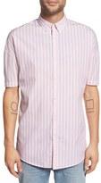 Zanerobe Men's 'Stripe Rugger' Oversize Short Sleeve Woven Shirt