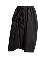 Simone Rocha Knotted gathered cotton-poplin midi skirt