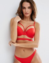 Asos Cut Out Plunge Push Up Bikini Top