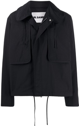 Jil Sander Peter Pan collar field jacket