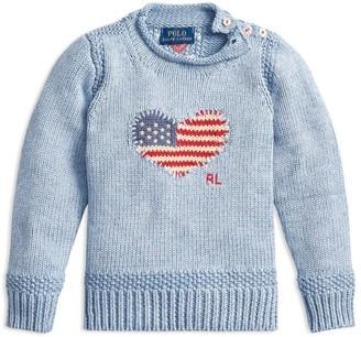 Ralph Lauren Kids Heart Flag Sweater (5-7 Years)