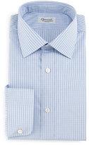 Charvet Plaid-Check Dress Shirt, Navy