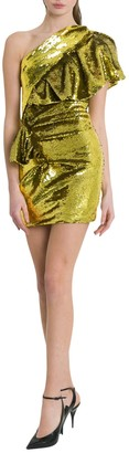 Alexandre Vauthier One-shoulder Sequined Mini Dress