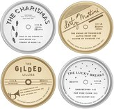 Kate Spade Two Of A Kind Metal Coasters - Silver Plate