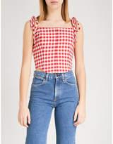 Vivetta Auriga sleeveless cotton crop top