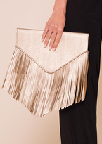 Missy Empire Lottie Gold Tassel Detail Envelope Clutch