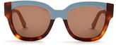 Marni Rectangle-frame acetate sunglasses