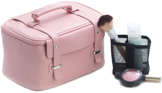 Bey-Berk Leatherette Travel Make Up Case