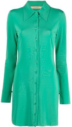 Andamane Longsleeved Mini Shirt Dress