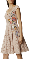 Karen Millen Lace Embroidered Prom Dress, Neutral