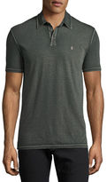John Varvatos Reverse Garment-Dye Jersey Polo Shirt