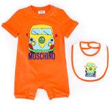 Moschino Kids logo print baby grow set