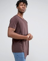 ONLY & SONS Longline T-shirt With Asymetric Drape