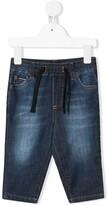 Dolce & Gabbana drawstring stonewashed-effect jeans