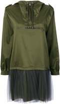 Moschino tulle layer nylon hoodie dress - women - Polyamide/Polyester/Acetate/Other fibres - 40