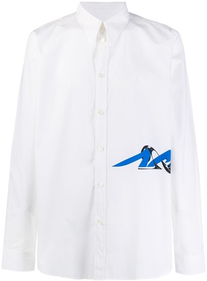 Givenchy Side Logo Buttoned Shirt