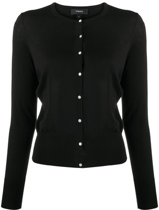 Theory Buttoned Fitted Cardigan