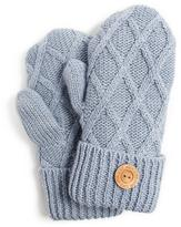 Muk Luks Women's Textured Diamond Potholder Mittens
