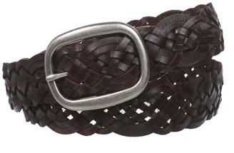 """Beltiscool 1 1/2"""" (37 mm) Women's Oval Braided Woven Leather Belt"""