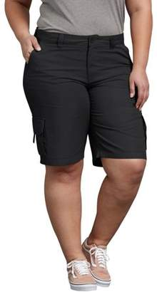 Dickies Women's Plus Size Cotton Cargo Short