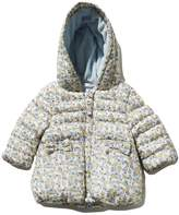 M&Co Floral padded hooded coat