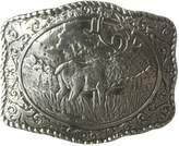 Nocona Men's Crumrine Elk Scaloped Buckle