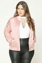 Forever 21 FOREVER 21+ Plus Size Quilted Bomber Jacket