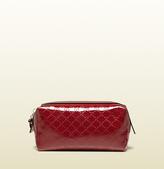 Gucci Microguccissima Patent Leather Cosmetic Case