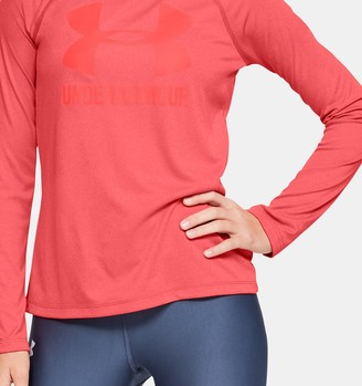 Under Armour Girls' UA Big Logo Long Sleeve Shirt