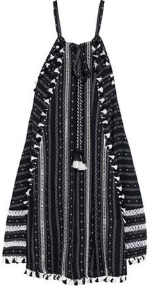 Dodo Bar Or Janelle Tassel-trimmed Cotton-jacquard Dress