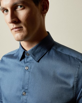 Ted Baker TILLNOW Cotton geo print shirt