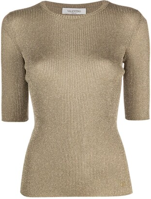 Valentino Metallic Knitted Top