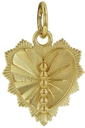 Foundrae Right Miniature Heart Love Token Medallion - Yellow Gold