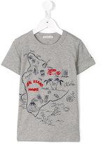Moncler map print T-shirt