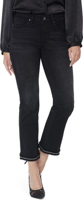 NYDJ Barbara Fray Ankle Bootcut Jeans