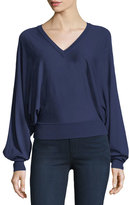 Michael Kors V-Neck Dolman-Sleeve Sweater