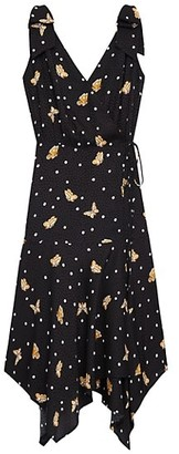 The Kooples Butterfly Faux-Wrap Dress