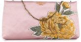 Paule Ka floral patch clutch
