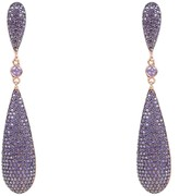 Latelita Coco Long Drop Earrings Purple Cz