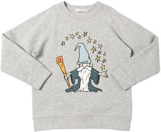 Stella Mccartney Kids Merlin Print Cotton Sweatshirt