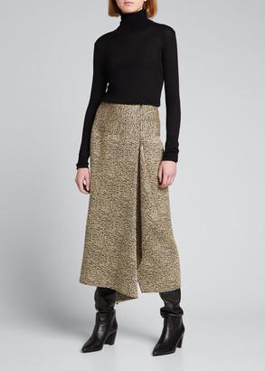 Zero Maria Cornejo Miro Draped Midi Skirt