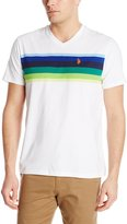 U.S. Polo Assn. Men's Chest Stripe V-Neck T-Shirt