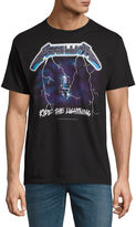 Novelty T-Shirts Metallica Ride the Lightning Graphic T-Shirt