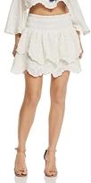 Red Carter Vega Tiered Mini Skirt