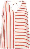 Dorothy Perkins Petite White Stripe Shell Top